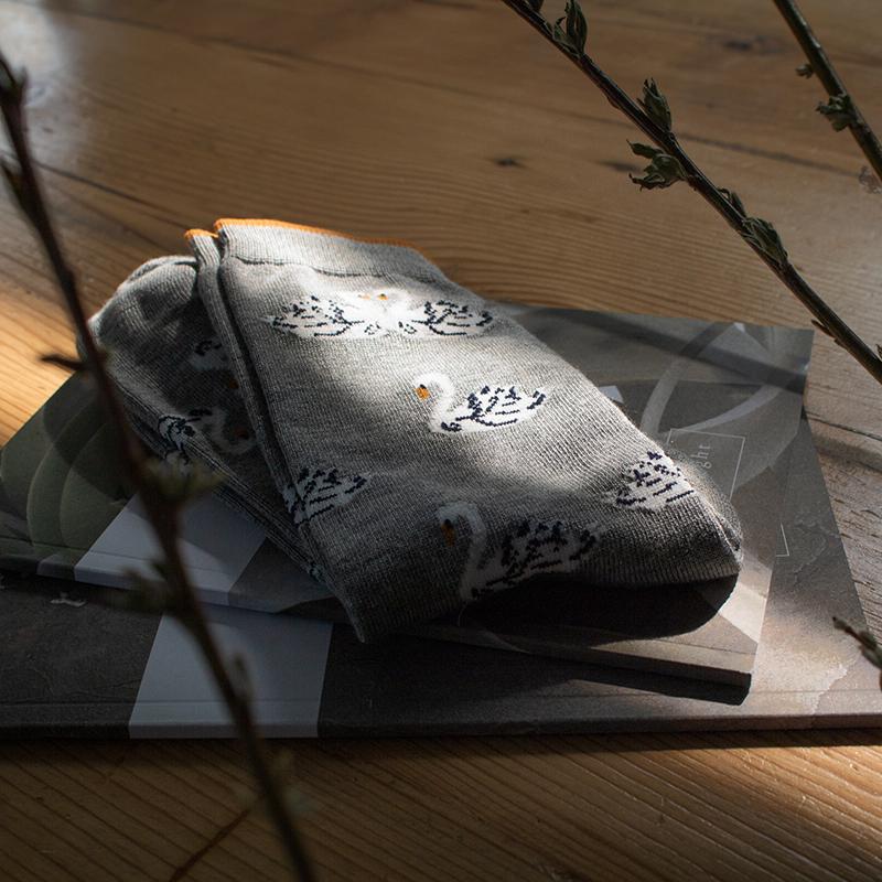 bamboe sokken zwaan