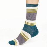 Sokken Thought Bamboe Dotty Stripe in Grijs_