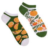 Mismatched Sneaker Sokken Orange_