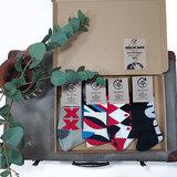 Box 4 paar Mismatched Bamboe Sokken Pijl_