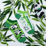 Mismatched Sneaker Sokken Panda_
