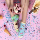 Mismatched Sneaker Sokken Ice Cream_