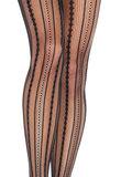 Panty Vintage Luxe Pinstripe Zwart_