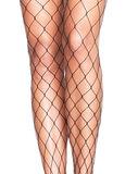 Panty Net Grote Mazen Zwart Plus Size_