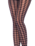 Panty  Vintage met Pied de Poule Motief_