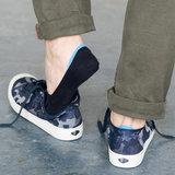 Sneaker Footie Tipped Light Navy_