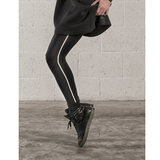 Legging Marc Marcs Stripe in Zwart met Wit_