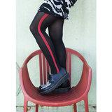 Panty Zwart met Rode Uniform Streep_
