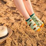 Mismatched Sneaker Sokken Kiwi_