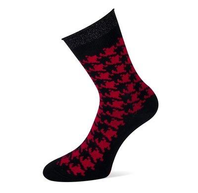 Sokken Donya Zwart met Rood