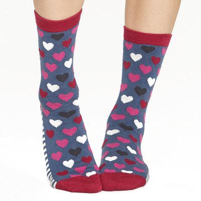Bamboe Damessokken 3-pack Hearts & Stripes