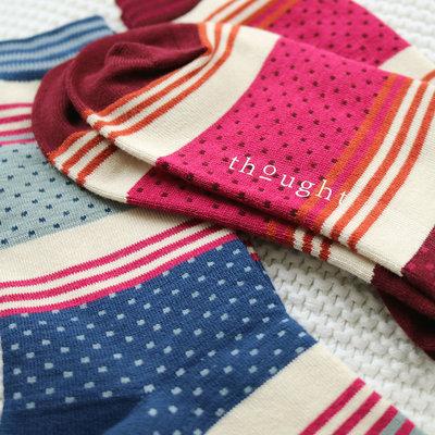 Sokken Thought Bamboe Dotty Stripe in Rood
