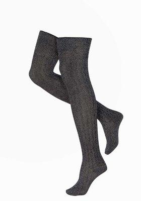 Kousen Luxe Overknee Rib Knit Grijs