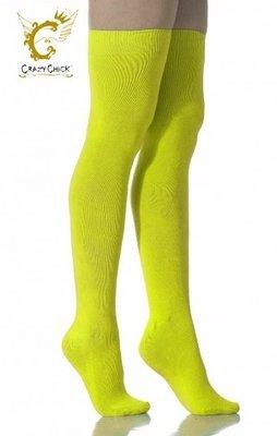 Kousen Overknee Uni Neon Geel