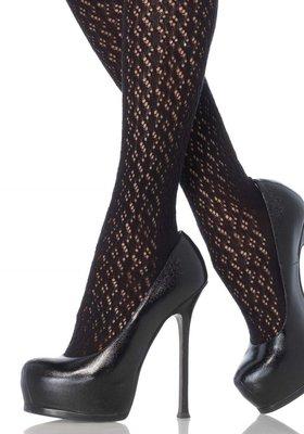 Kousen Luxe Overknee in zwart gehaakt