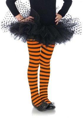 Kinderpanty Streep Oranje/Zwart