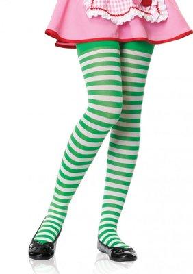 Kinderpanty Streep Wit Groen