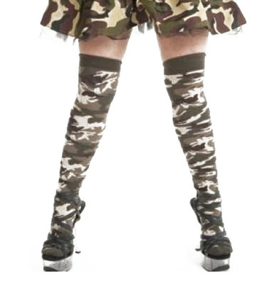Kousen Overknee Leger Camouflage