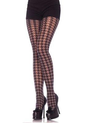 Panty  Vintage met Pied de Poule Motief