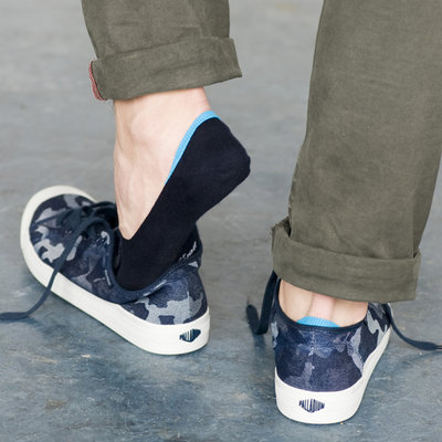 Sneaker Footie Tipped Light Navy