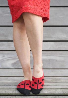 Sneaker Footie Ladybird