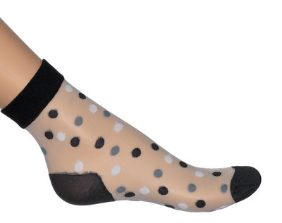 Sokken Enkel Panty Dots Zwart