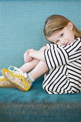 Sokken Quarter Kids Smile Licht Grijs