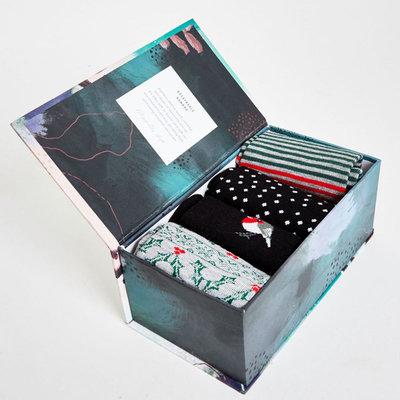 Bamboe Sokken Giftbox Heren Kerst