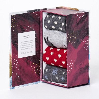 Bamboe Sokken Giftbox Dames Kerst