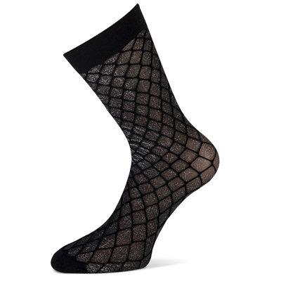 Sokken Enkel Panty Zwart met Zilver Lurex