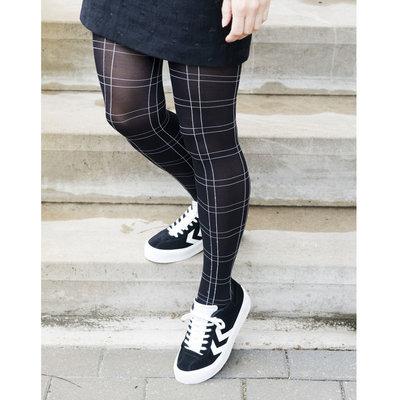 Panty Zwart Chalky Checks
