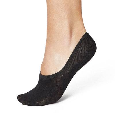 Sneakersok No Show Dames Zwart