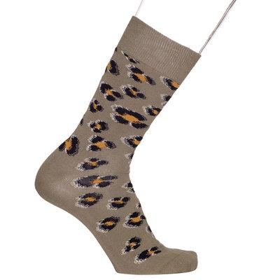 Sokken Heren Luipaard Khaki