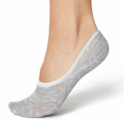 Sneakersok No Show Dames Grijs
