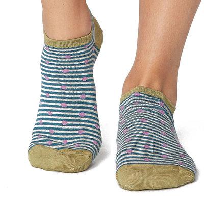 Sneakersok Dames Spot Stripe Kingfisher