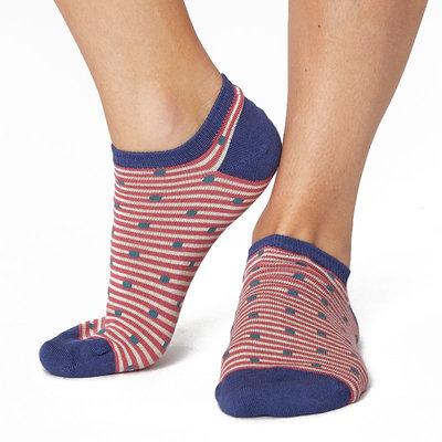Sneakersok Dames Spot Stripe Blush