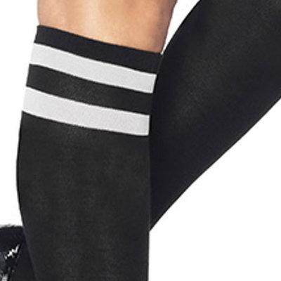 Sokken Knie Sport Zwart met Witte Strepen