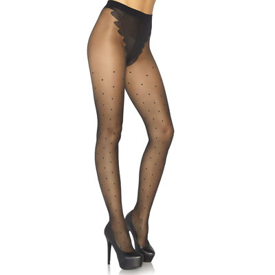 Panty French Cut met Polka Dots zwart