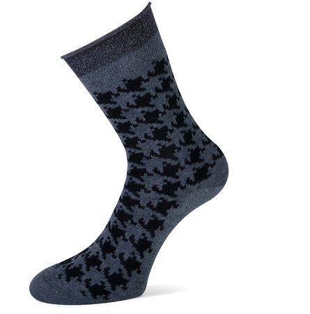 Sokken Donya Zwart met Grijs