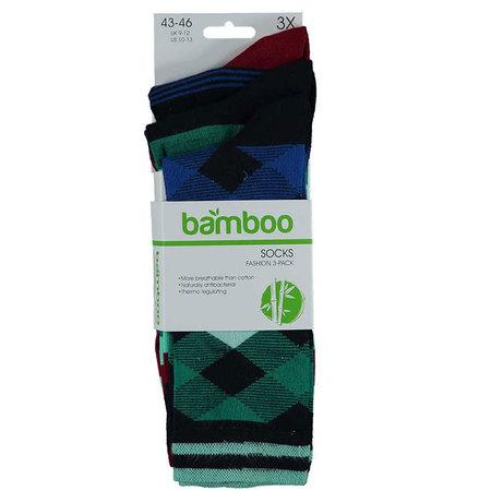 Bamboe Herensokken 3-Pack Marine Mix