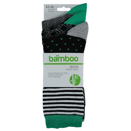 Bamboe Herensokken 3-Pack Zwart Groen