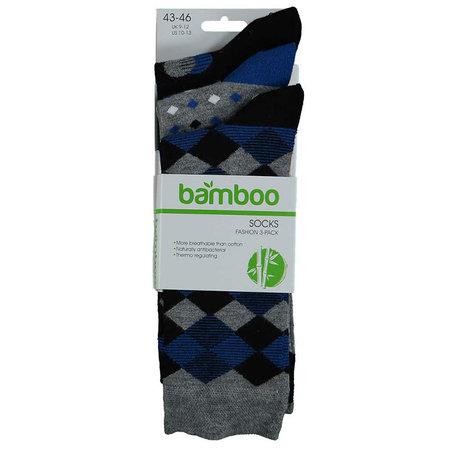Bamboe Herensokken 3-Pack Zwart Blauw