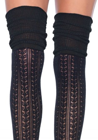 Kousen Luxe Overknee Gebreid Zwart