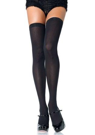 Kousen Zwart Overknee Plus Size