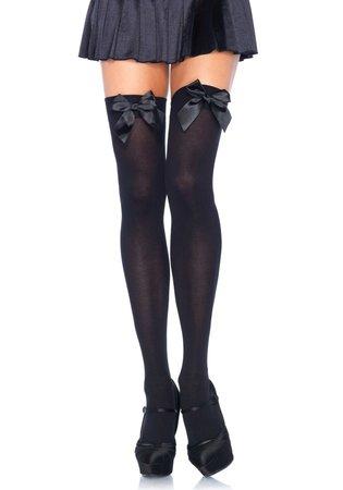 Kousen Strik Zwart Overknee Plus Size