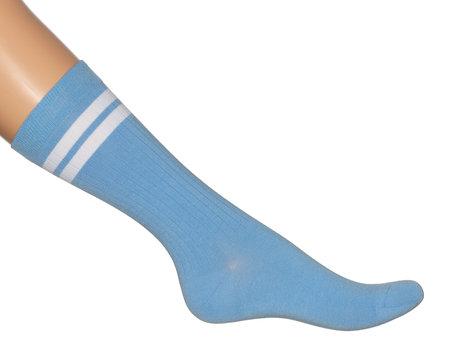 Sokken Sport Ribbed Sky Blue