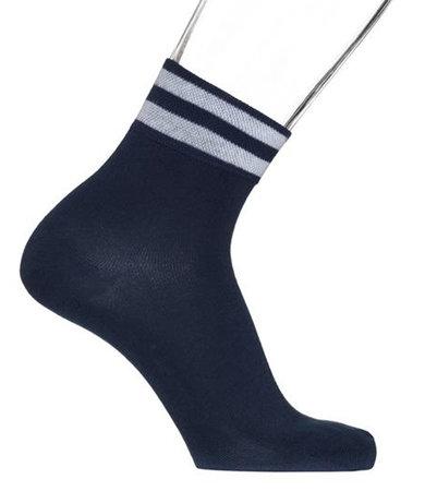 Sokken Heren Quarter Stripe Licht Navy