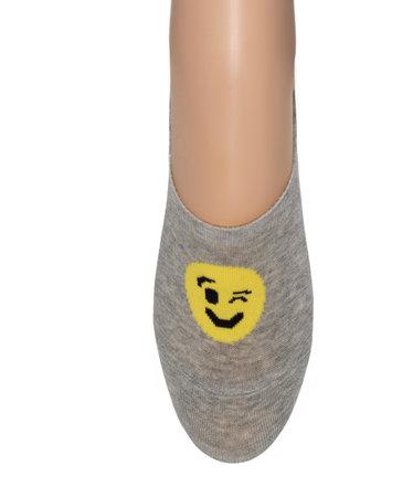 Sneaker Footie Kids Smile Licht Grijs
