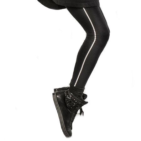 Legging Marc Marcs Stripe in Zwart met Wit