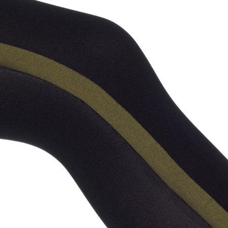 Panty Zwart met Olijfgroene Uniform Streep